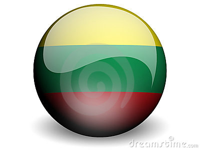 Round Flag of Lithuania