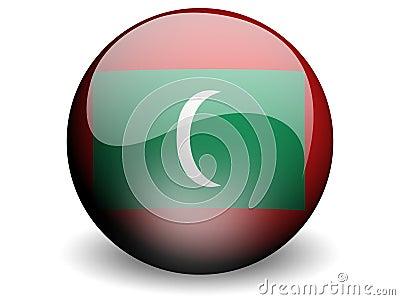 Round Flag of Maldives