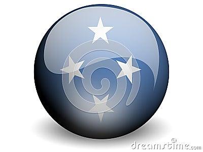 Round Flag of Micronesia