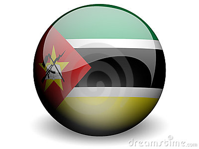 Round Flag of Mozambique