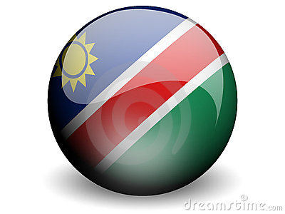 Round Flag of Namibia