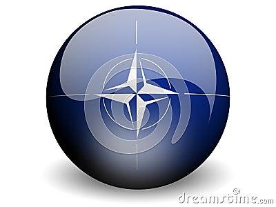 Round Flag of Nato