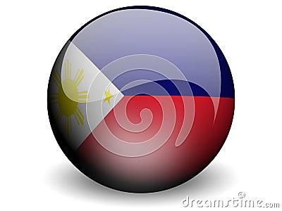Round Flag of Philippines