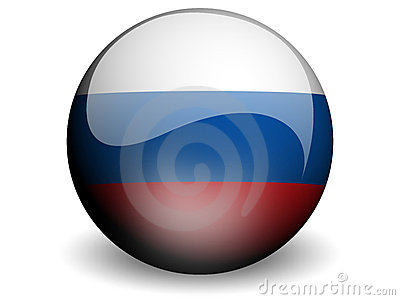 Round Flag of Russian Federation