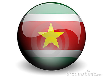 Round Flag of Suriname