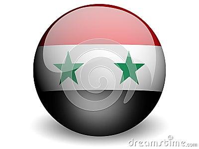 Round Flag of Syria