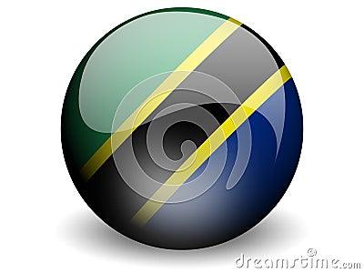 Round Flag of Tanzania