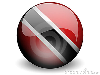 Round Flag of Trinidad and Tobago