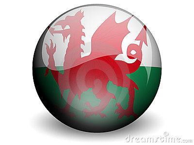 Round Flag of Wales