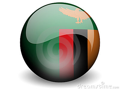 Round Flag of Zambia