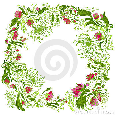 Round floral composition