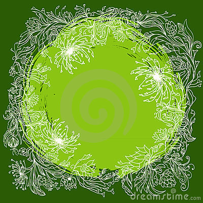 Round floral composition