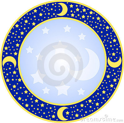 Round frame with stars
