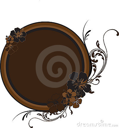 Round Golden-Brown Frame with
