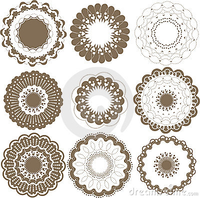 Round graphic elements set