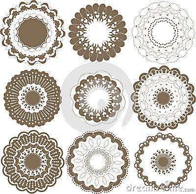 Round graphic elements set
