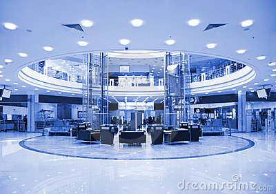 Round hall in shopping center
