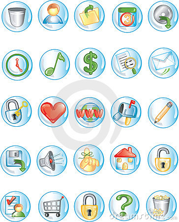 Free Round Icons 2 Royalty Free Stock Photography - 641787