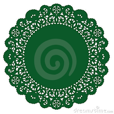 Round Lace Doily, Emerald