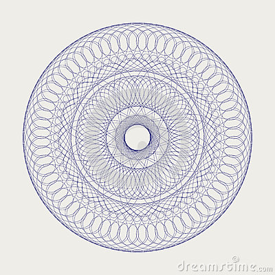 Round lace ornament