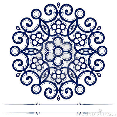Round lace ornate background