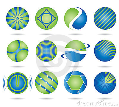 Round logos