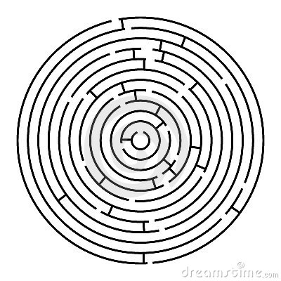 Free Round Maze Stock Photo - 12452550
