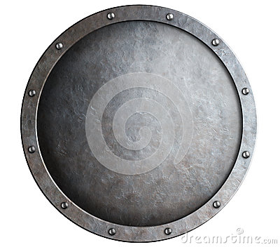 Round Metal Medieval Shield Isolated Stock Photo - Image ...