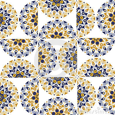 Round ornate background pattern