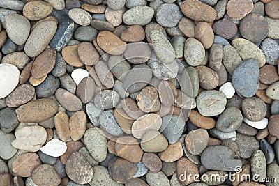 Round pebble stones