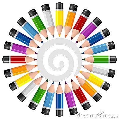 Round Pencils Photo Frame