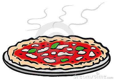 Round pizza (vector)