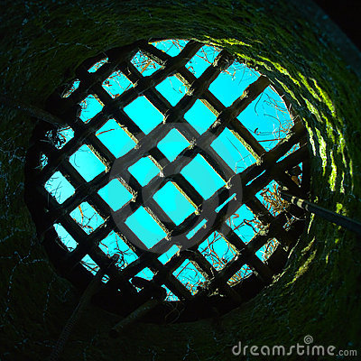 Round prison hole with grid