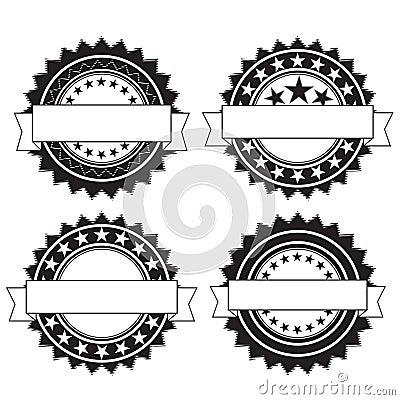 Round retro badges