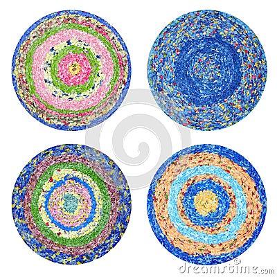 Round rugs Handmade
