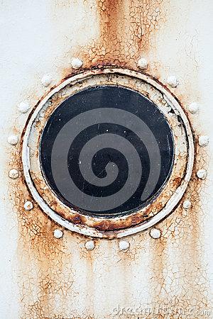 Free Round Rusted Porthole On Ship Wall Royalty Free Stock Photography - 42287327