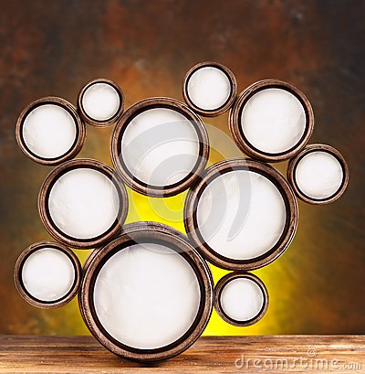 Round shapes in the form of beer barrels