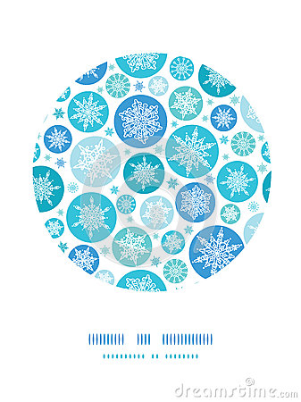 Round Snowflakes Circle Decor Pattern Background