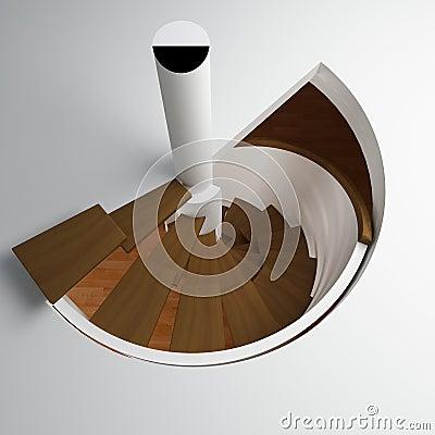 Round stair