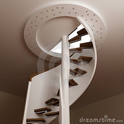 Round stair in room