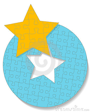 Round Star Circle Jigsaw Puzzle