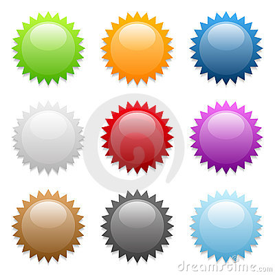 Free Round Sticker Icons Royalty Free Stock Photography - 4868857
