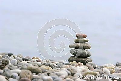 Round stones for meditation
