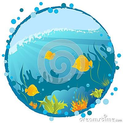 Round underwater background