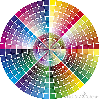 Free Round Vector Color Chart Royalty Free Stock Photography - 38349817