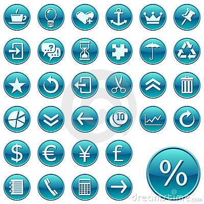 Free Round Web Icons / Buttons 2 Stock Images - 7716394