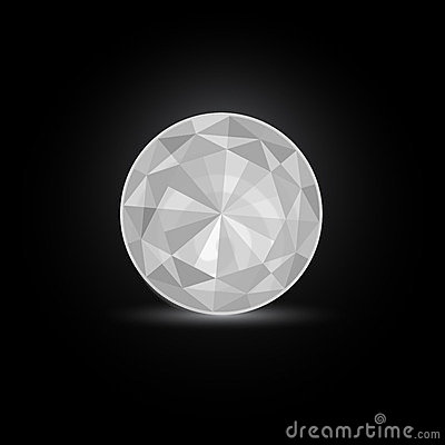 Round White Diamond Stone