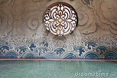 Round window on wall