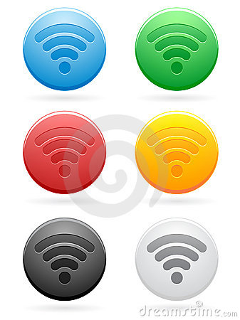 Round Wireless Icons EPS