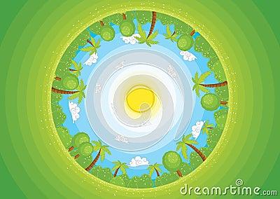 Round world II vector illustration
